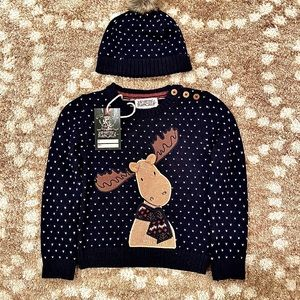 NWT Ministry of Rascals Christmas Sweater & Hat